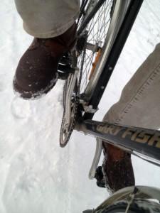 Radfahren mit Spikes