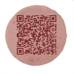 QR-Code auf der Wurst