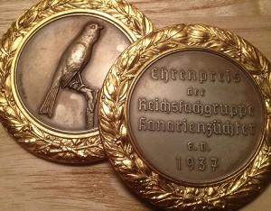 Ehrenpreis der Reichsfachgruppe Kanarienzüchter