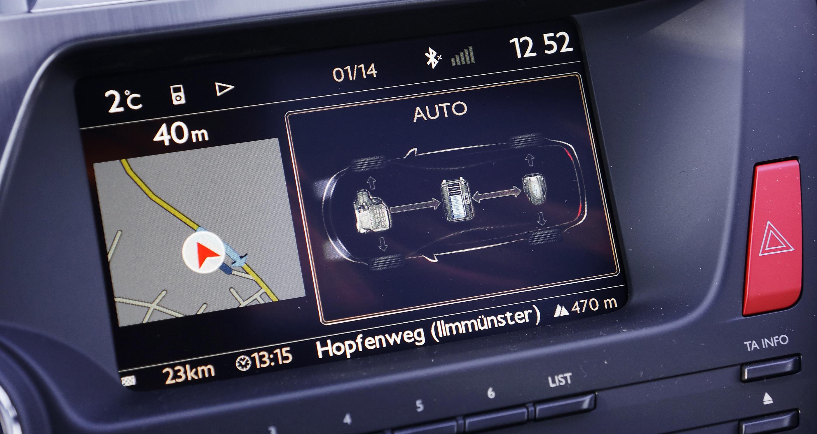 Citroen DS 5 Anzeige Antriebsmodus