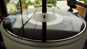 Saubere Schallplatte