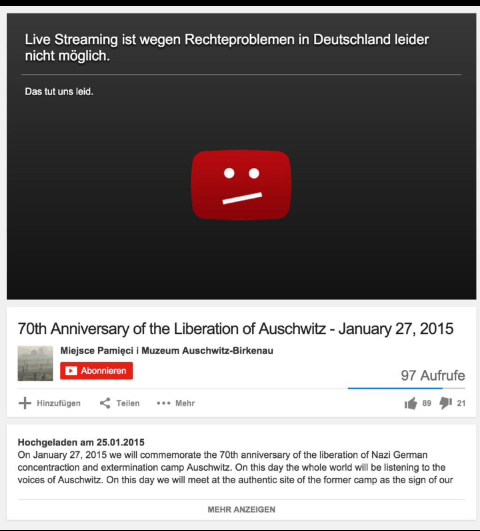 YouTube-Auschwitz