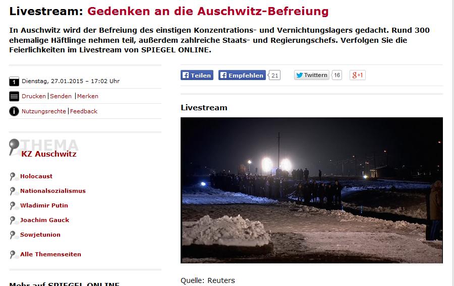 Auschwitz archive czyslansky for Spiegel livestream