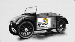 Wenn der Windows Server 2003 ein Auto wäre...