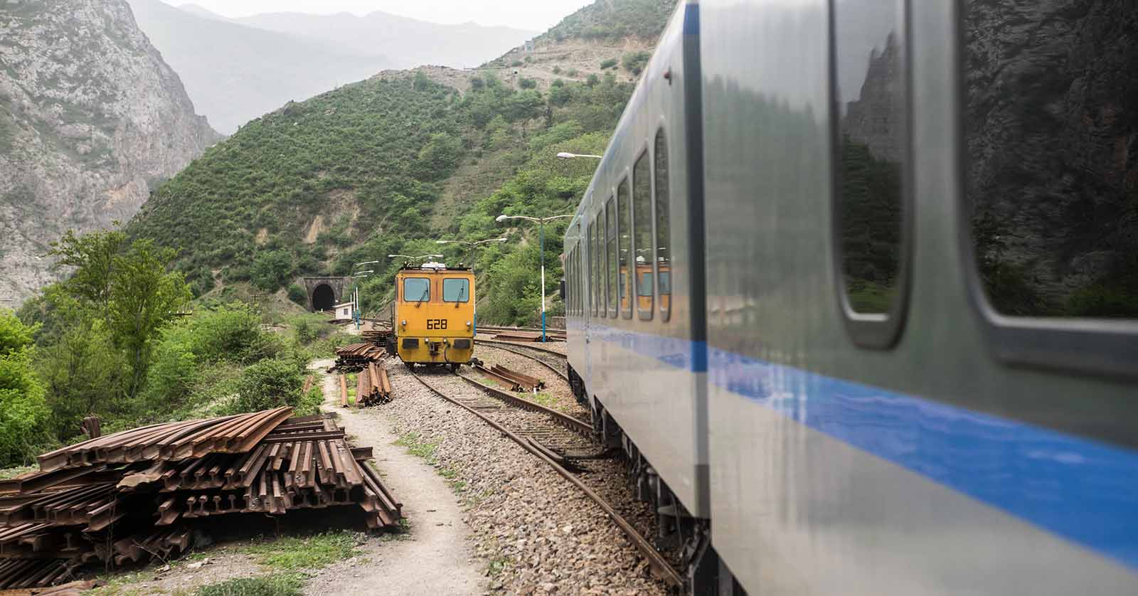 Zug im Iran