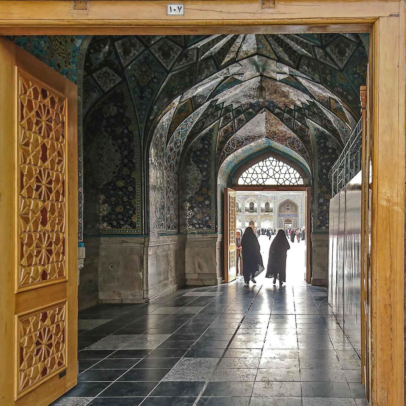 Im heiligen Bezirk von Mashhad