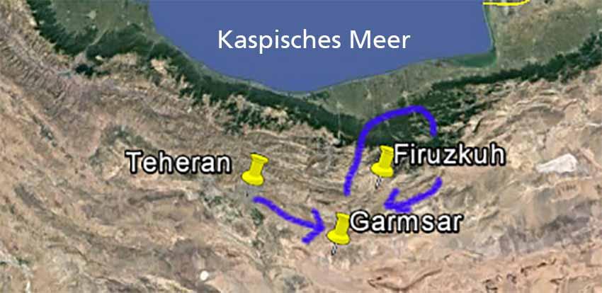 Karte Alborz-Gebirge