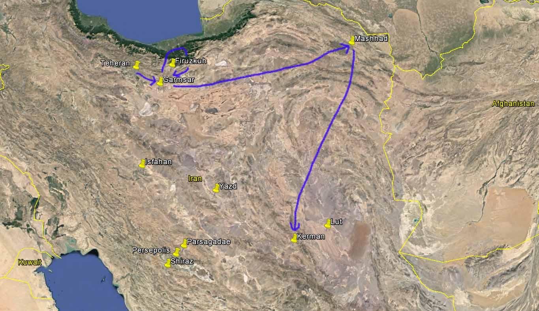 Rundreise durch den Iran