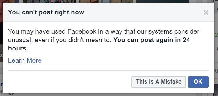 Facebooksperre