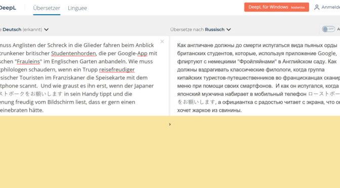 KI Übersetzungsprogramme