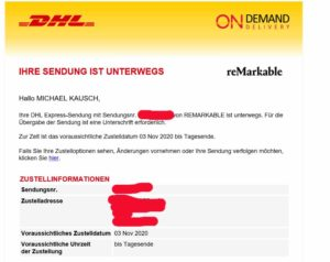 DHL reMarkable